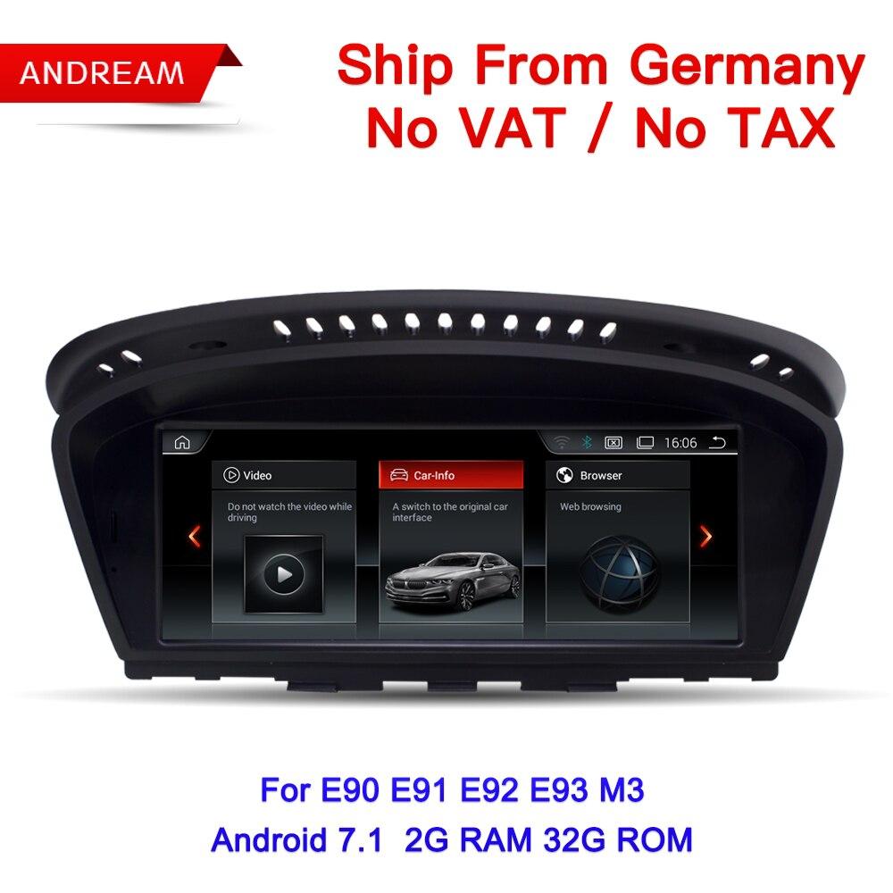 Allemagne Livraison Gratuite 8.8 ID6 Interface lecteur multimédia Pour BMW Série 3 E90 E91 E92 E93 M3 Android GPS navigation EW963B