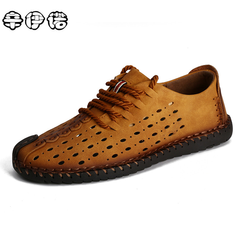 Genuine Leather Men casual shoes Summer 2017 Breathable Soft Driving Men's Handmade chaussure homme Comfort Loafers Big Size npezkgc brand best quality genuine leather men flats casual shoes soft loafers comfortable driving shoes men breathable shoes