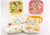 лидер продаж прекрасный мультфильм детская тарелка мелкая бытовая компот меламин тарелка десертная миски детские пластик лоток детская тарелка С01