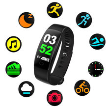 BT4.0 Blood oxygen Smart Color Screen Blood Pressure Exercise Heart Rate Pedometer Healthy Smart Watch 25(China)
