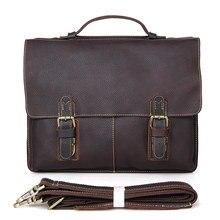 High Quality Vintage Genuine Leather JMD Men Briefcase Portfolios Office Bags Business Bag Messenger Bag #7090R