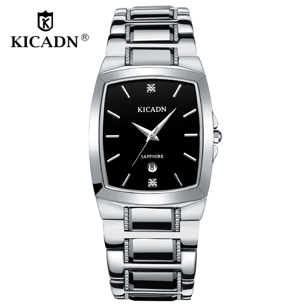 KICADN Fashion Classic Business Watches Super Man Time Clock Luxury Brand Male Watch Men Gift Waterproof Gold Quartz WristWatch