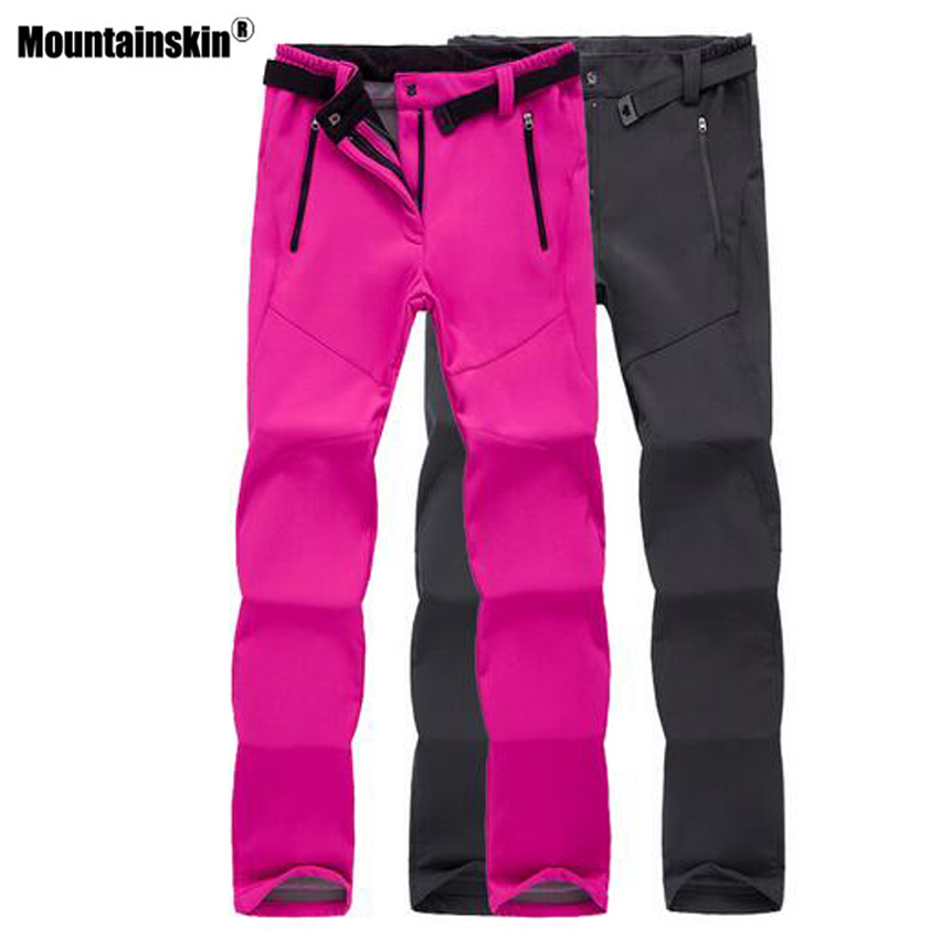 Mountainskin Women Men Thick Warm Fleece Softshell Pants Fishing Camping Hiking Skiing Trousers Waterproof Windproof VA274
