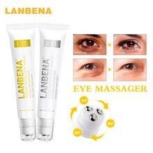 LANBENA Peptide Anti Aging Eye Serum+Snail Repair Cream Anti-Wrinkle Dark Circle Anti-Puffiness Skin Care Whitening 2PCS