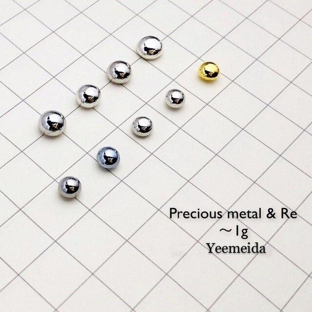 2779cb82a15 Element 1g of each Solid Ruthenium Rhodium Palladium Silver Osmium Iridium  Platinum Gold Rhenium Metal