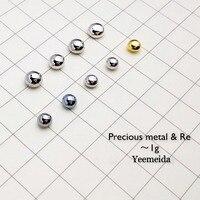 Element 1g of each Solid Ruthenium Rhodium Palladium Silver Osmium Iridium Platinum Gold Rhenium Metal