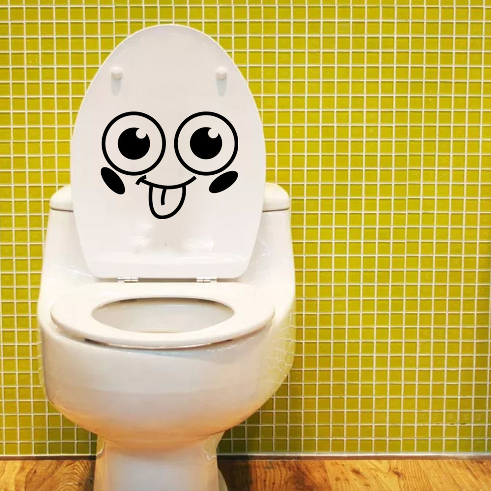 Emoji Smiley Face Music Wall Stickers For Bathroom Toliet Fridge ...