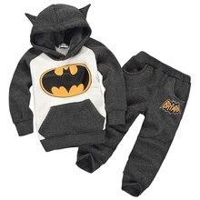 Новые комплекты детской одежды с Бэтменом для мальчиков и девочек детский хлопковый повседневный костюм сезон весна-осень детское пальто с капюшоном комплект одежды из футболки и штанов
