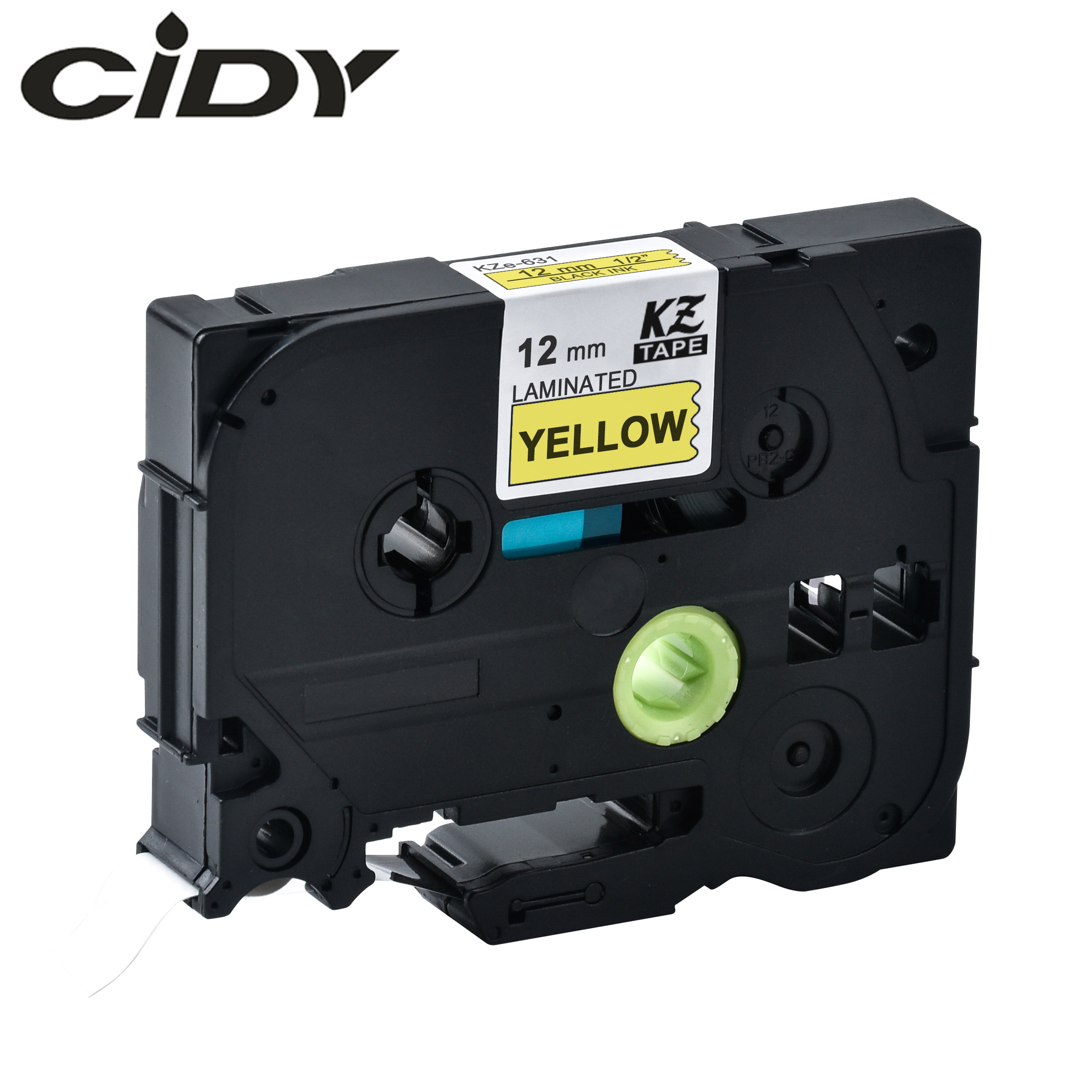 CIDY  Tze 631 Tz631 Black On Yellow Minated Compatible P Touch 12mm Tze-631 Tz-631 Tze631 Label Tape Cassette Cartridge