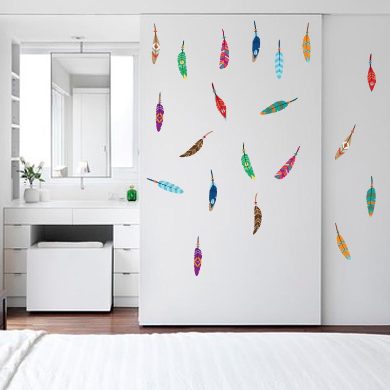 Fashion baby room removable wall stickers pvc colorful - Childrens bedroom wall stickers removable ...