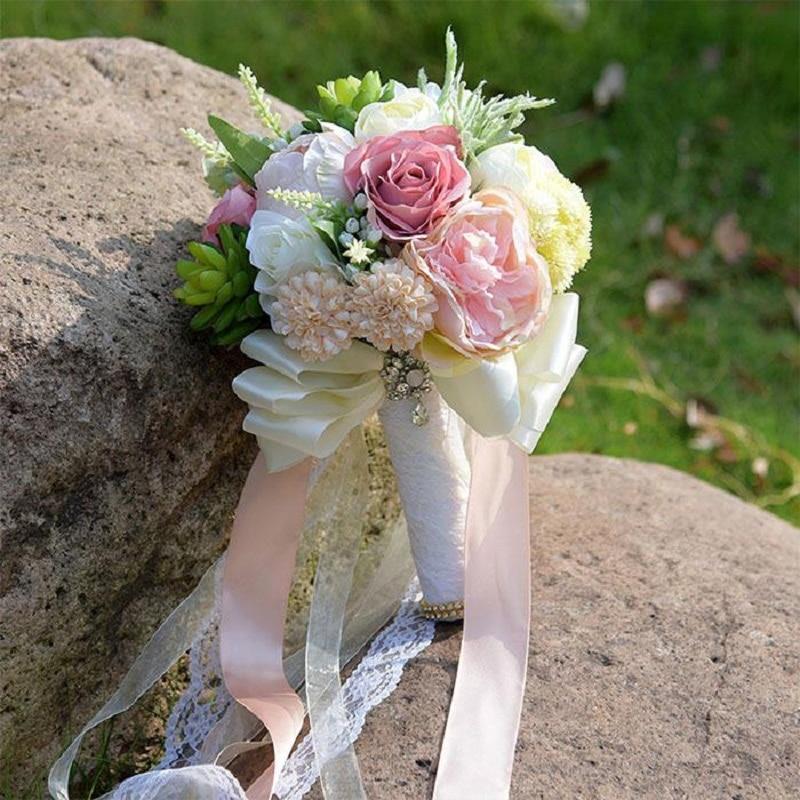 Свадебные букеты простые