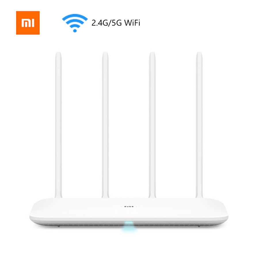 In Stock Xiaomi Mi Router 4 Wireless 1167Mbps Dual Band 5GHz Wi-Fi 802.11 ac Four Antennas Dual Core MiNet One Key Connection