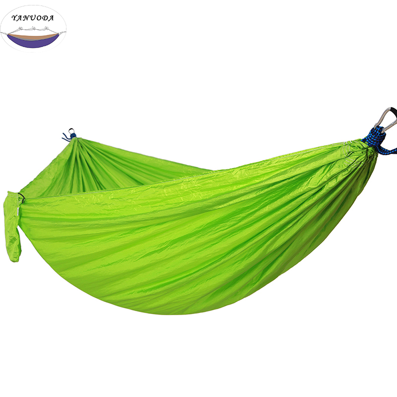 2-Person Hammock Portable Parachute Garden Beach Travel Canvas Nylon Fabric Hammocks for Camping Yard new strong universal parachute nylon fabric outdoor hammock ground cloth for two person travel shop