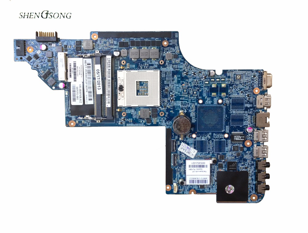 цена на 665352-001 Free Shipping For HP Pavilion DV6-6000 DV6T 48.4RH09.021 Laptop Motherboard Mainboard System board 100% Fully Tested