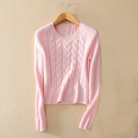 Fashion Women S 100 Cashmere Knitting Pullover Sweater With Longer Back Hem O Neck Long Sleeves