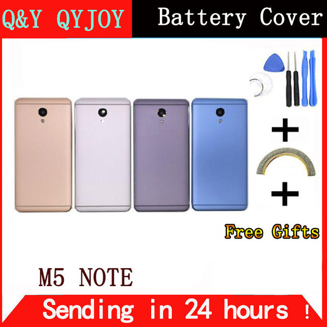 Q&Y QYJOY AAA Quality Battery Housing Cover For Meizu M5 Note Battery Back Door Case Camera Lens Back Cover For M621