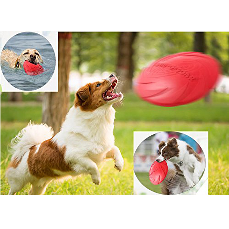 Outdoor Soft Eco-friendly Silicone Rubber Dog Flying discs Pet Tooth Resistant Flying Disc Fetch Dogs Toys Training Playing Toy