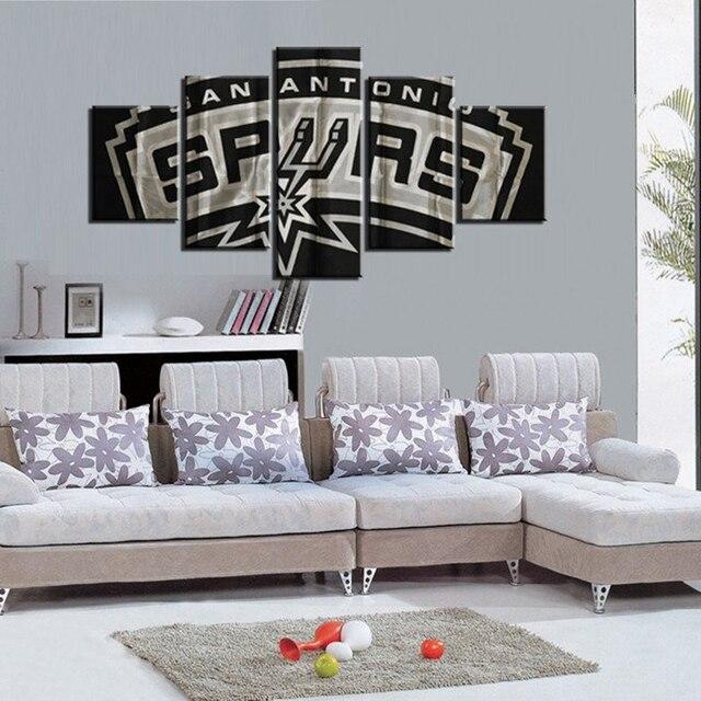 5 Pieces/set San Antonio Spurs Canvas Painting Wall Art 5 Pieces HD Prints  Home