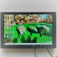 Free Shipping 10 inch Mini HDMI LCD Monitor LED Backlight TV Monitor with Two Speakers Widescreen HDMI LCD Monitor