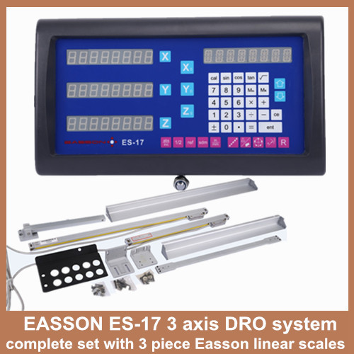 High Precision Easson 3 axis digital readout for lathe and milling machine with 3 pieces DRO scale linear measurement