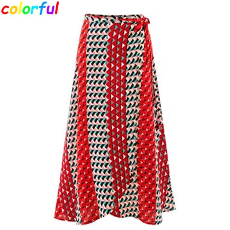 Long Printed Skirts