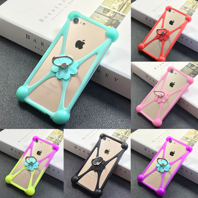 2019 New Lucky Clover Cover 3D Soft Silicon 4.0-6.0 inch Universal Case For Iphone Samsung Xiaomi Huawei more with phone ring(China)