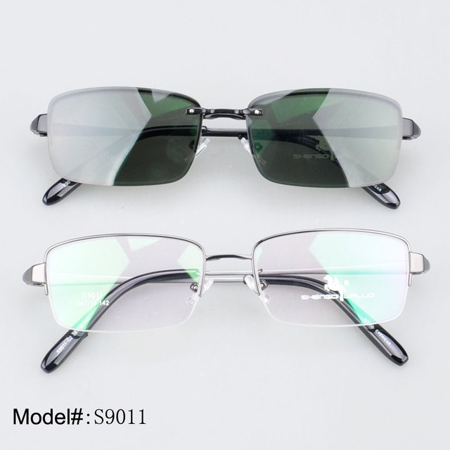 S9011 Free shipping Fashion   polarized clip on sunglasses only brown/silver/gold   sunshade 100% UVB