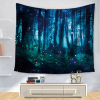 Polyester Tapestry 3D Printed Forest Wall Decoration Blankets Beach Towel Mandala Tapestry Wall Hanging Tapiz Hippie Tapestries