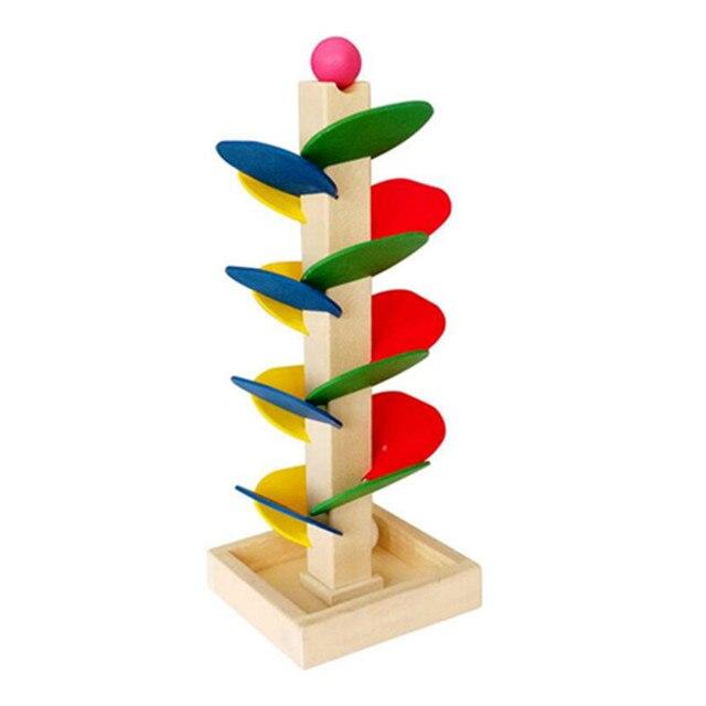 Montessori Juguetes Educativos de madera para niños Aprendizaje Temprano árbol de madera cuentas voladoras juego de enseñanza preescolar