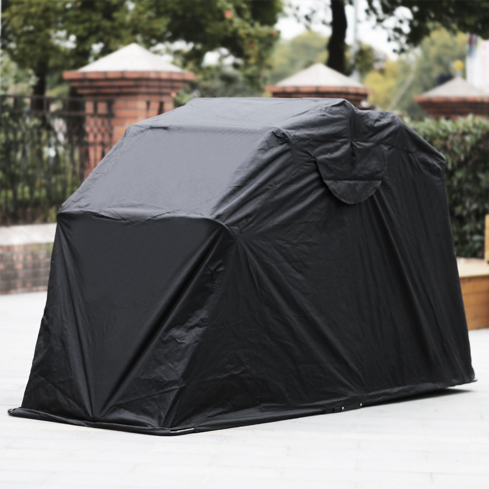 Heavy Duty Motorcycle Shelter Shed Cover Storage Garage Tent  Larger Motorbikes Sturdy Metal Frame Security Locking Permanently