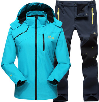 Women Spring Summer Sportswear Outdoor Waterproof Climbing Trekking Hiking Jackets +Camping Fishing Sports Quick Dry Pants Suit