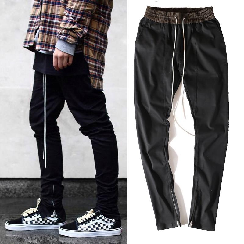 Harem Para Urbana Kanye Vestido Bieber Negro Justin Con Chinos Cremallera Pantalones West Europea Coreanos Hombre Ropa EqWxaRB7wp