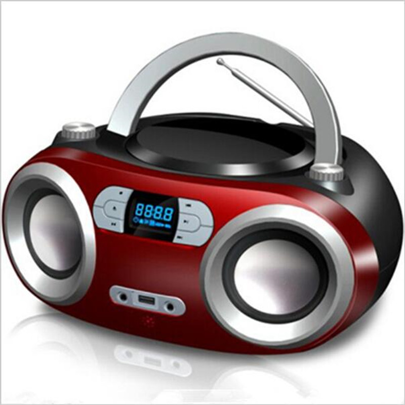Lonpoo переносной <font><b>bluetooth</b></font> <font><b>CD</b></font> Бумбокс MP3-плееры <font><b>Bluetooth</b></font> Портативный Динамик USB Play Усилители домашние стерео сабвуфер Динамик fm Радио