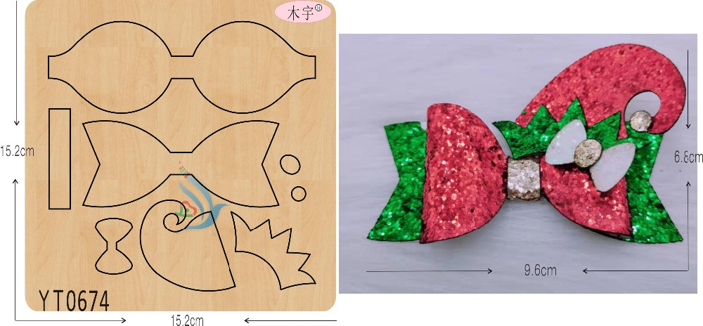 Christmas Bow DIY New Wooden Mould Cutting Dies For Scrapbooking Thickness-15.8mm/muyu/YT0674