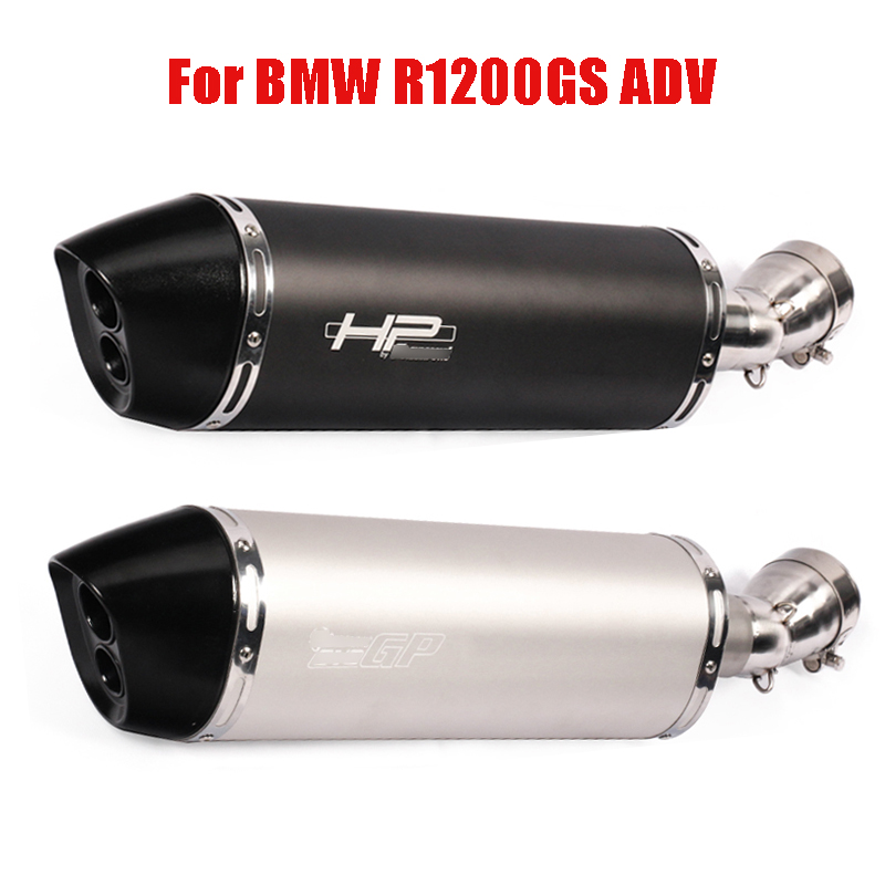 Slip On R1200GS Motorcycle Exhaust System Muffler Tip Silencer Link Pipe for BMW R1200GS ADV 2013 2014 2015 2016 2017 2018 2019 image