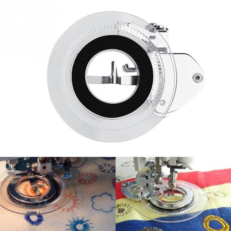 Multifunctional Flower Sewing Machine Presser Foot Embroidery Stitch Circles Add Embellishments to Garments Button Covers circle