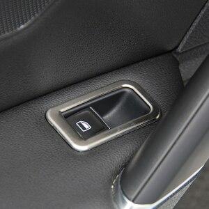 Image 5 - Accesorios de acero inoxidable para coche, decoración Interior de puerta de cubierta de interruptor de ventana, embellecedores para Volkswagen VW Golf 7 MK7