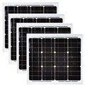 Солнечная панель 12 в 30 Вт 4 шт тент солнечные панели 120 Вт 48 В солнечная батарея зарядное устройство система солнечного света Caravan Car Motorhome RV LM
