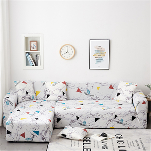 Image 3 - Parkshin Geometric Slipcover Stretch Sofa Covers Furniture Protector Polyester Loveseat Couch Cover Sofa Towel 1/2/3/4 seater