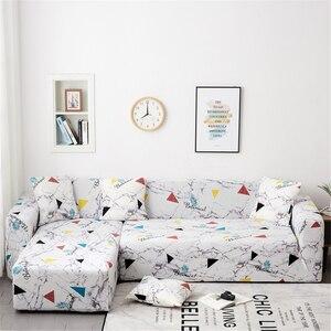 Image 3 - Чехол для дивана Parkshin с геометрическим рисунком, растягивающийся чехол для дивана, полиэфирный защитный чехол для мебели, 1/2/3/4 места