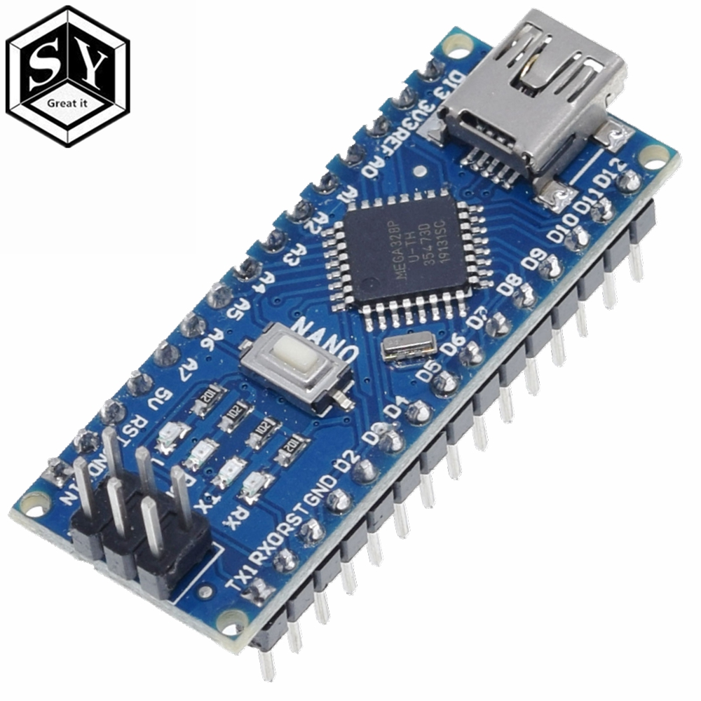 1PCS GREAT IT  Nano 3.0 controller nano CH340 USB driver ATMEGA328 ATMEGA328P nano Mini USB With the bootloader for arduino 3