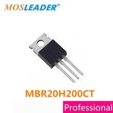Mosleader 50 PCS TO220 MBR20H200C MBR20H200CT MBR20H200 20H200 Alta qualidade