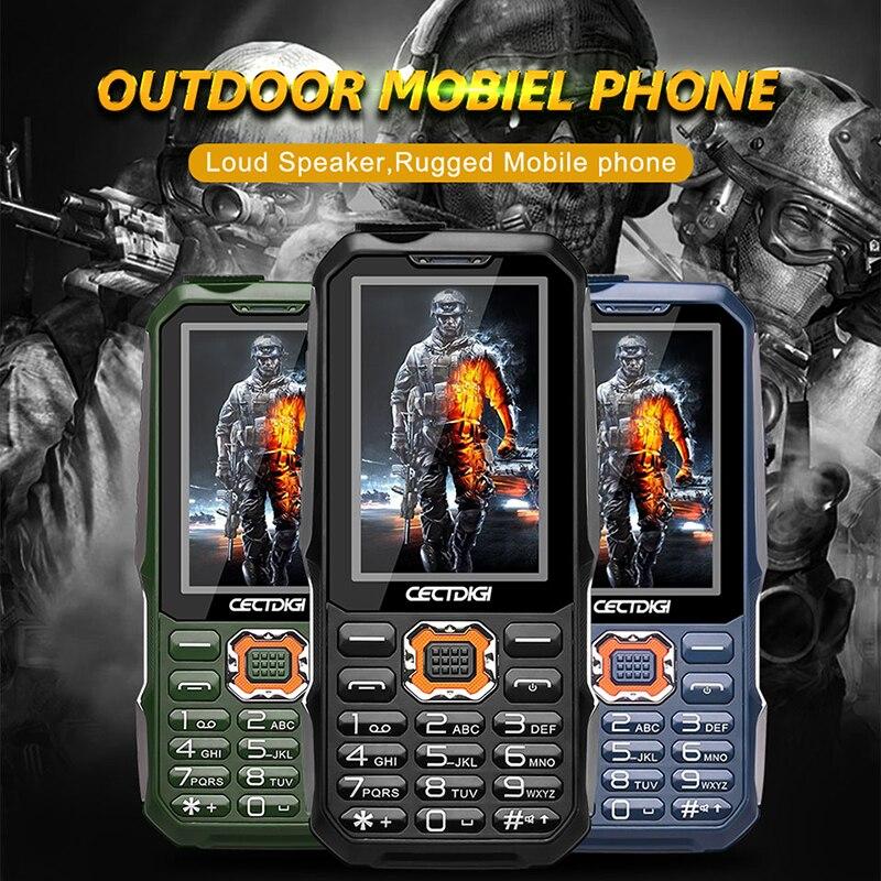 Three SIM Keyboard Mobile phone Cectdigi T19 2 8 inch 15800 mAh Power Bank FM Radio
