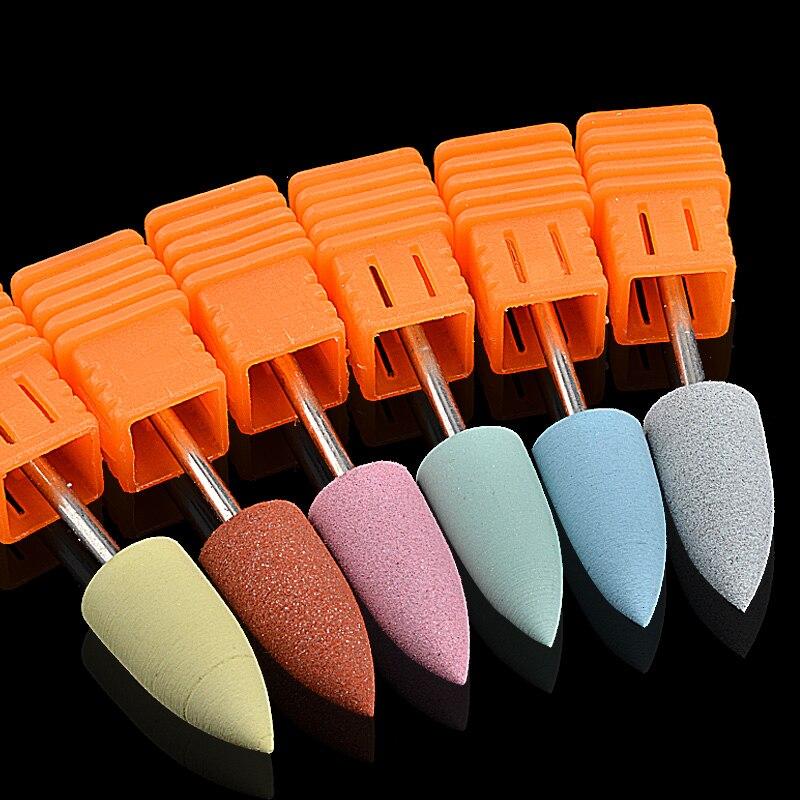 1 세트 실리콘 네일 드릴 비트 전기 매니큐어 기계 폴리 셔 그라인더 액세서리 네일 도구