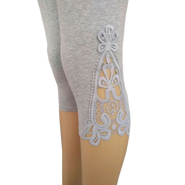 Lace Crochet Capri Leggings
