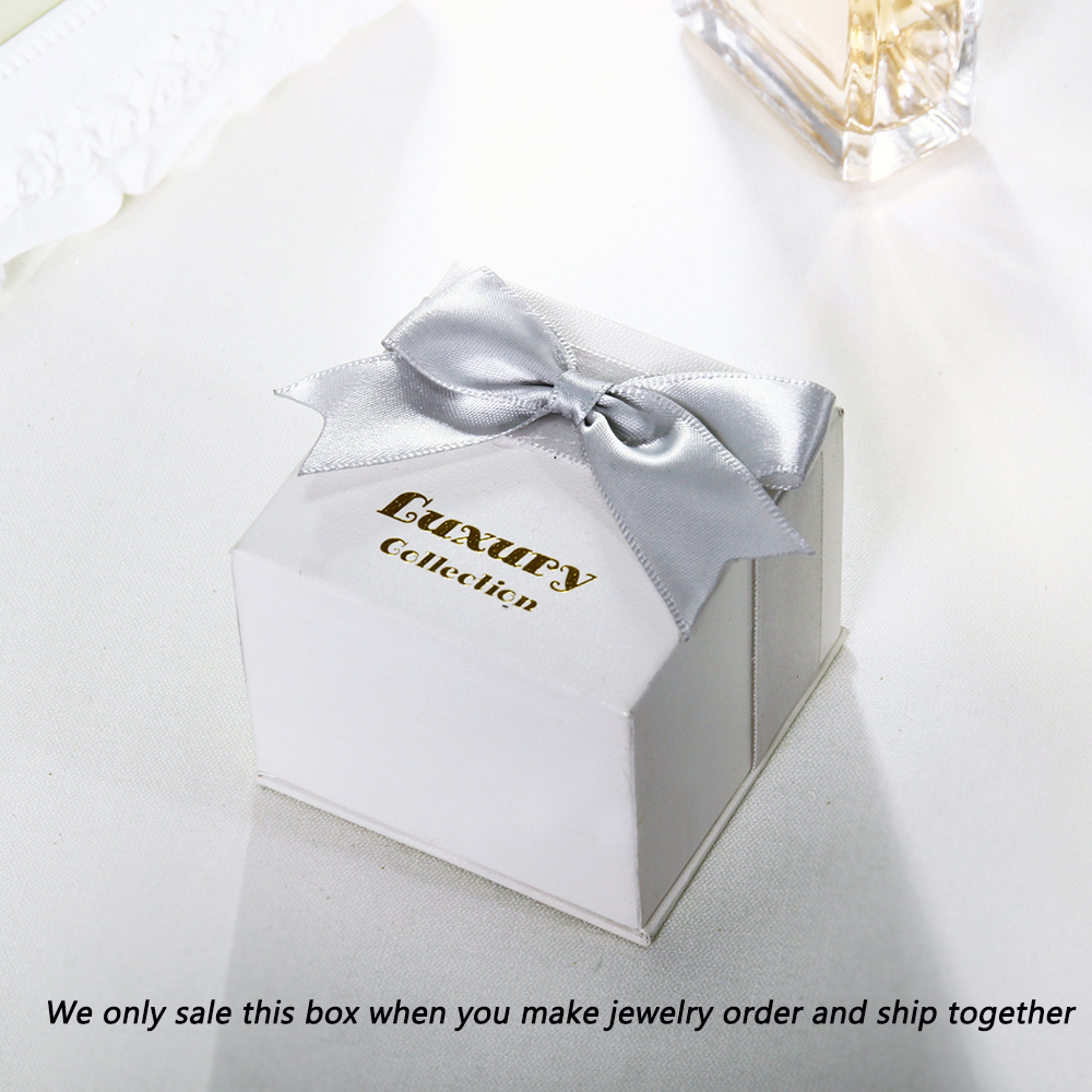Only Box for sale High Quality Big White Paper Gift Box for bangle Bracelet big earrings Pendant Ring Packaging 8 7 8 7 5 CM in Jewelry Packaging Display from Jewelry Accessories