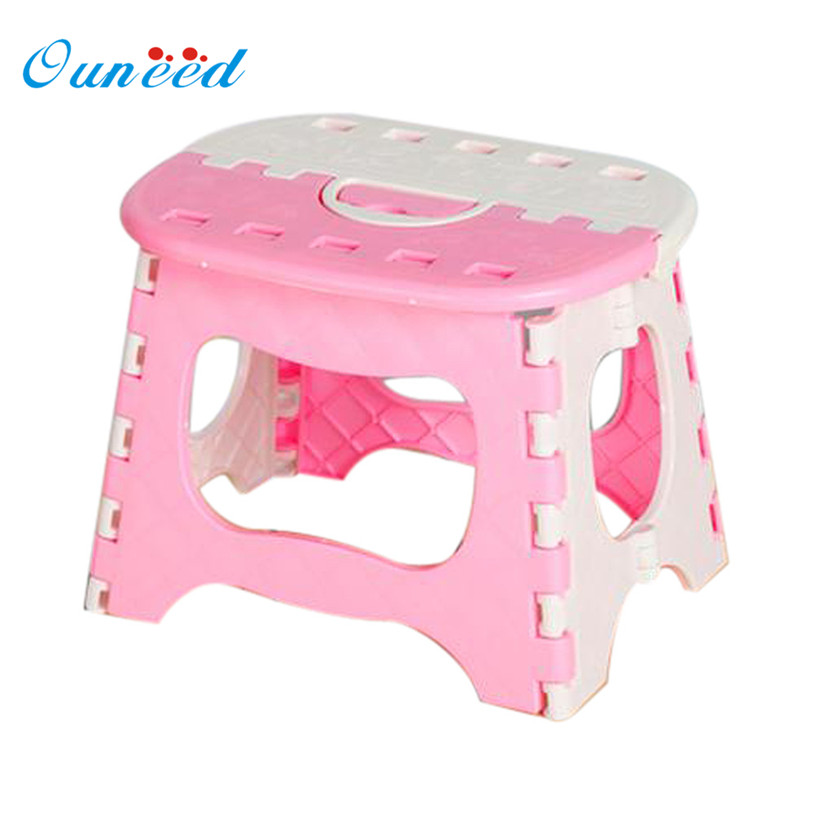 OUNEED Plastic Multi Purpose Folding Step Stool Home Train Outdoor Storage Portable folding stool U6914 bamboo bamboo portable folding stool have small bench wooden fishing outdoor folding stool campstool train