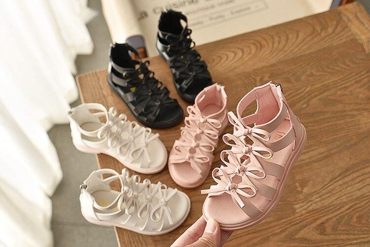 Girls Sandals Soft Leather Roman Shoes Korean Children's Sandals Princess Shoes Summer New Baby Sandals Tide