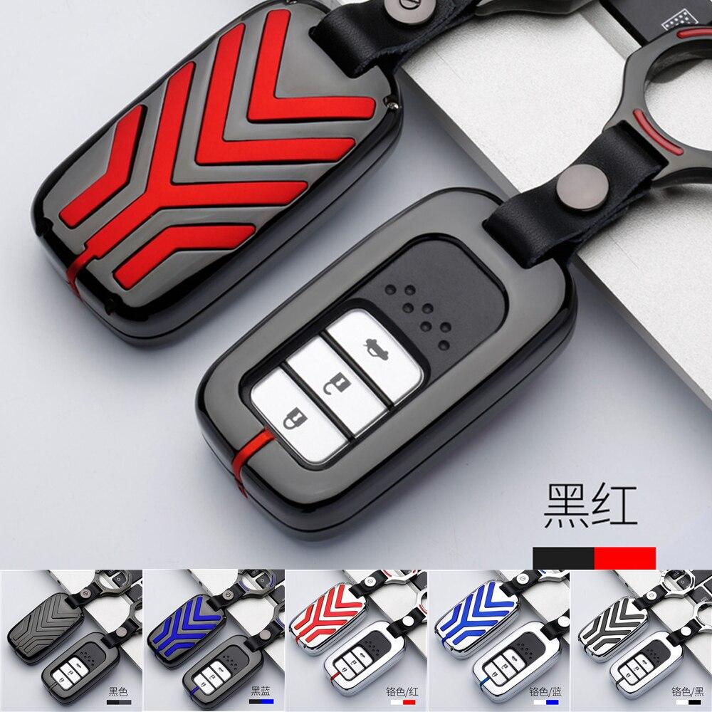 In lega di zinco Car remote key fob caso della copertura del supporto protect per Honda CRV Pilot Accord Civic Hrv Cr-v Freed Fit Freed keyless entry