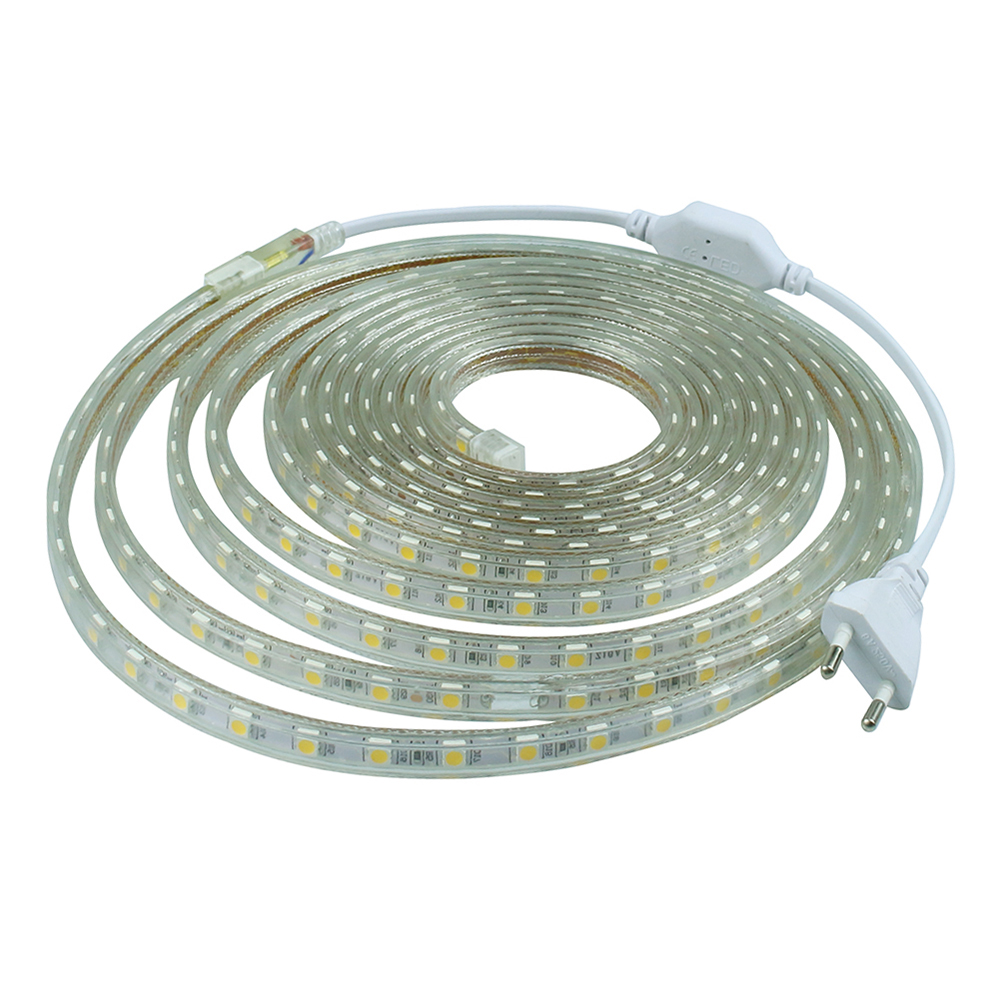 smd 5050 ac220v rgb led led strip waterproof flexible bar light 60led m 1m 25m with eu plug. Black Bedroom Furniture Sets. Home Design Ideas